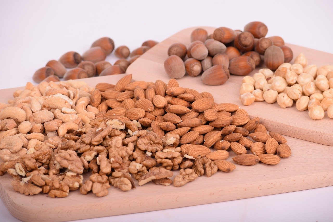 nuts, almonds, seeds